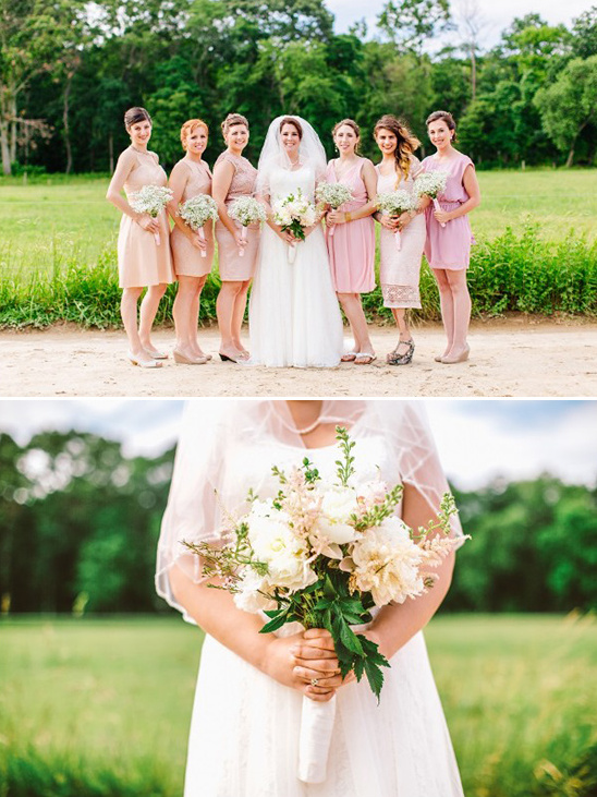 mixed blush bridesmaids dresses
