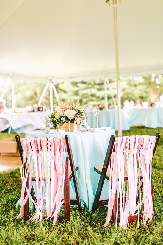 hanging ribbon chair decor