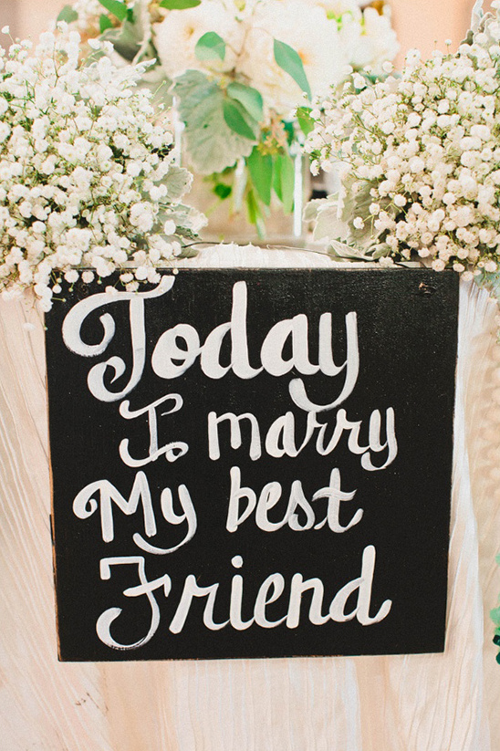 today i marry my best friend sign