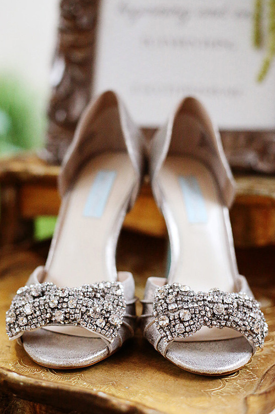 sparkling Betsy Johnson wedding shoes
