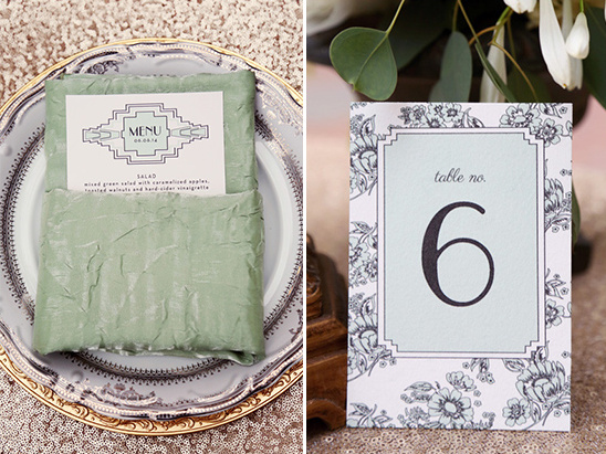 floral print table numbers