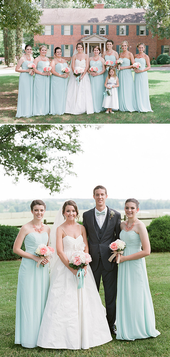 long mint bridesmaids dresses