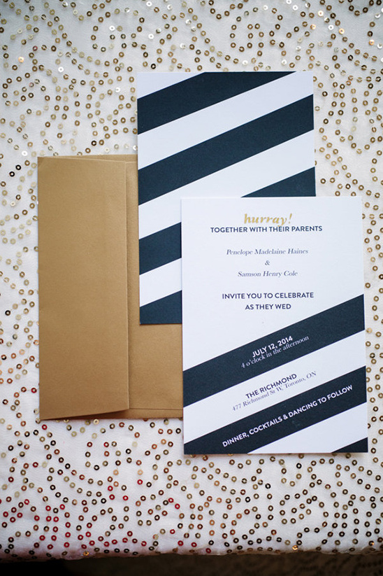navy and white stationery