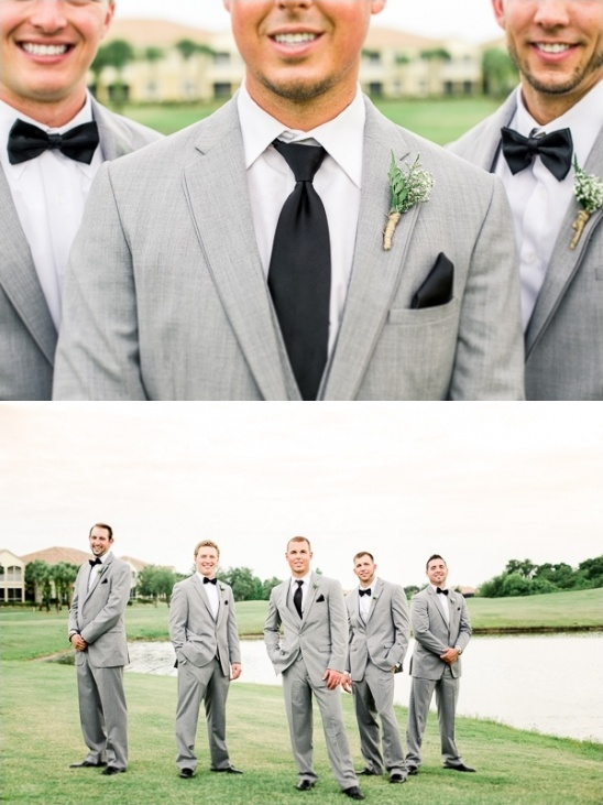 handsome grey and black groomsmen look