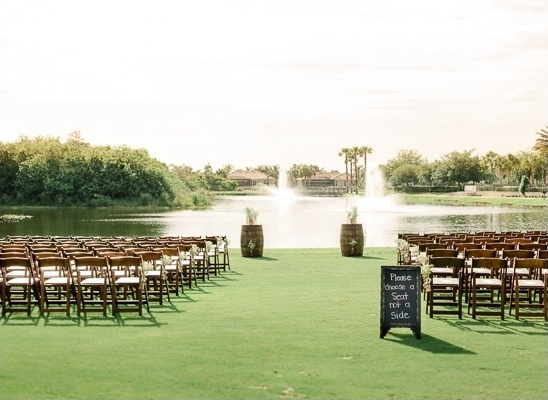 ceremony near the water