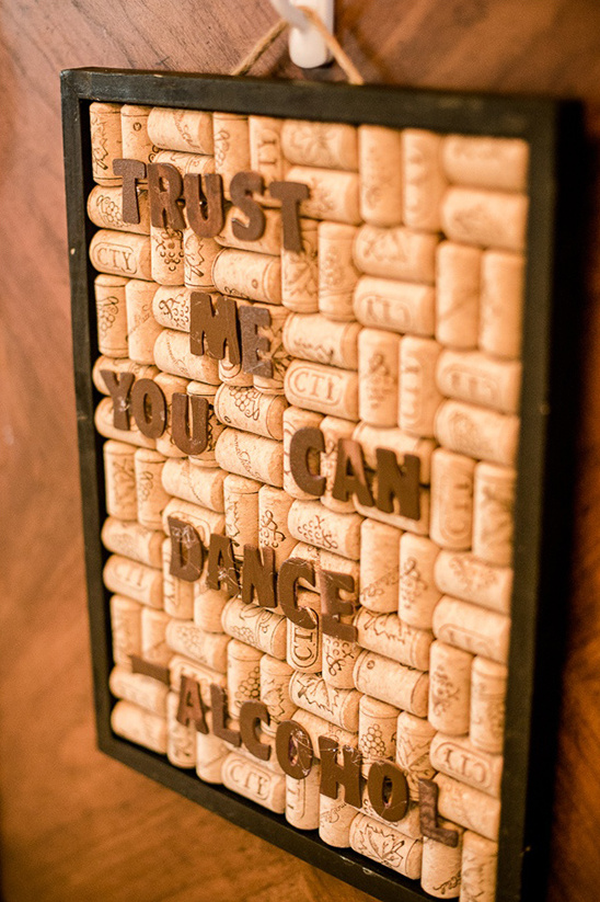 fun cork quote sign