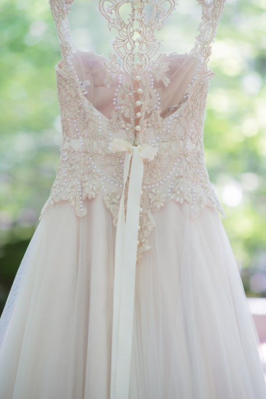 delicate gown detail