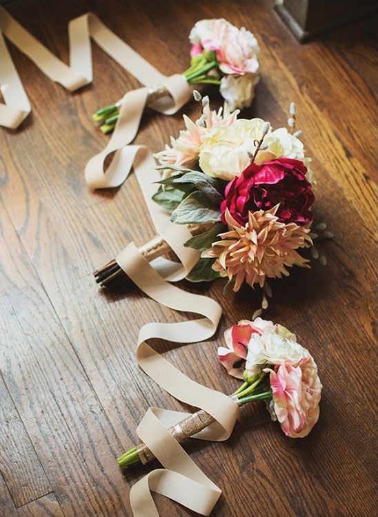 mixed pinks bouquets