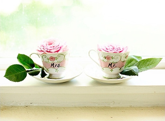 Mrs and Mr teacups