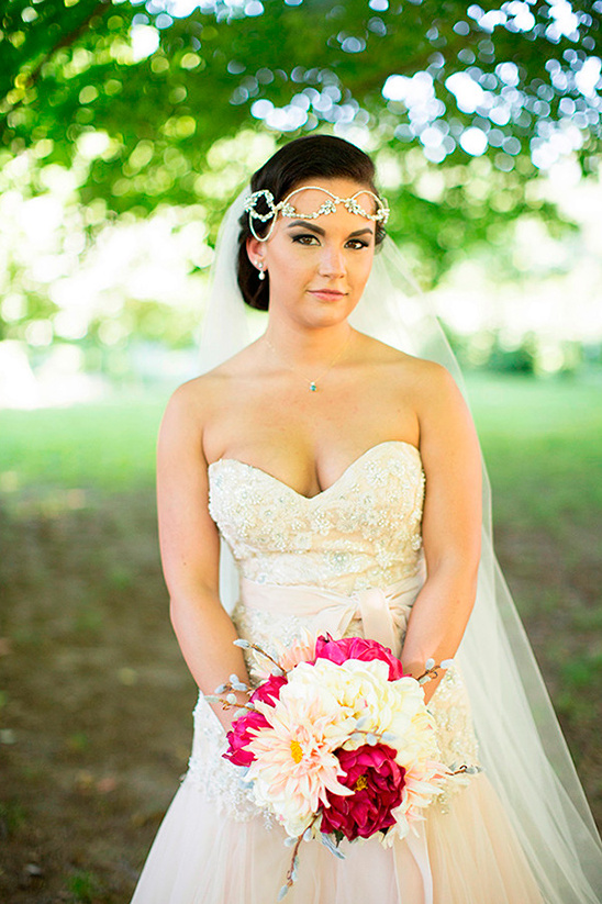 whimsy romance bridal look