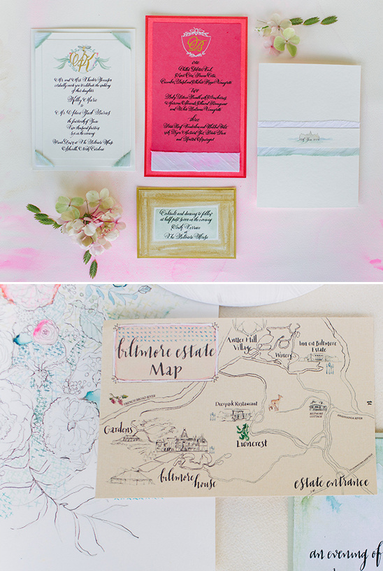 hand drawn wedding map