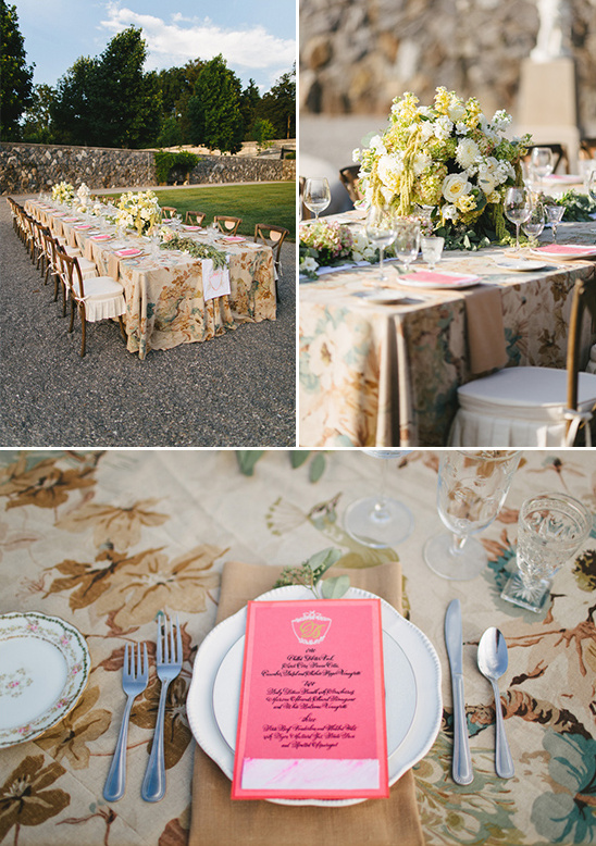 vintage reception idea