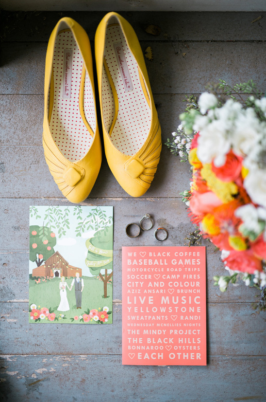 wedding invites programs and shoes