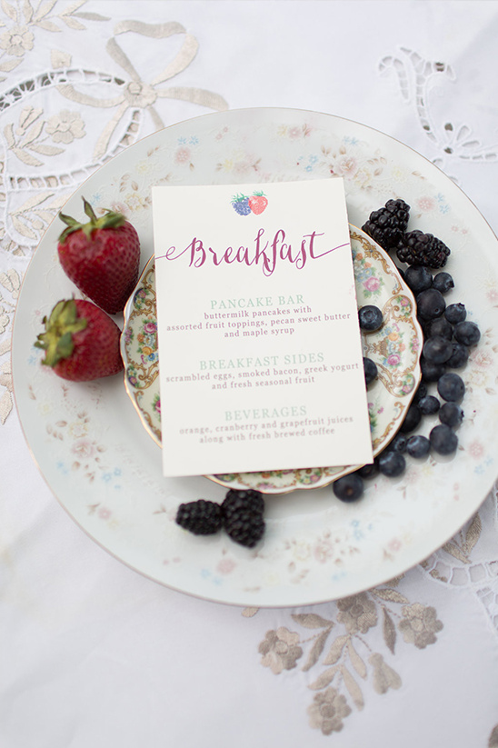 breakfast wedding menu