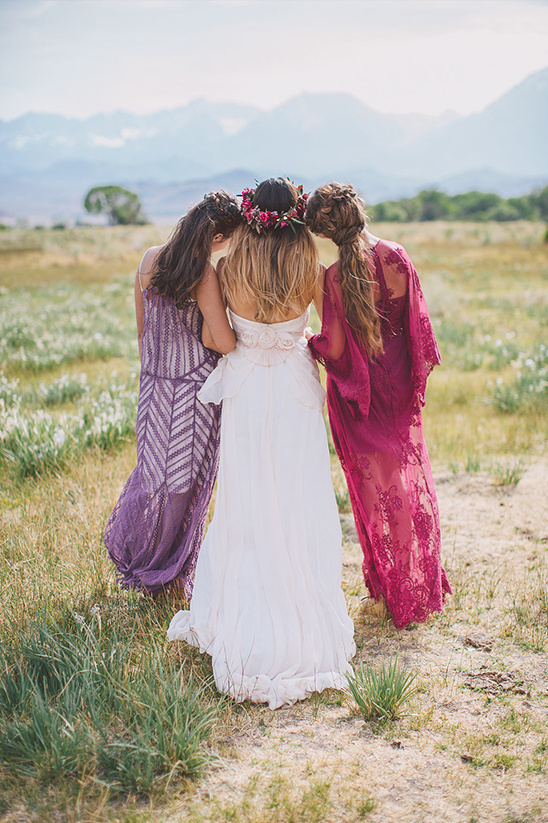 boho chic bridesmaids