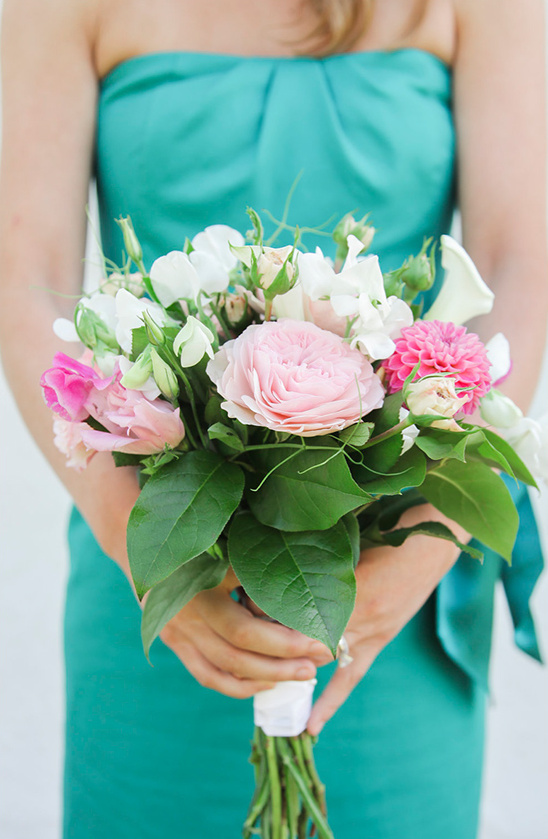 pink bridesmaid bouquet