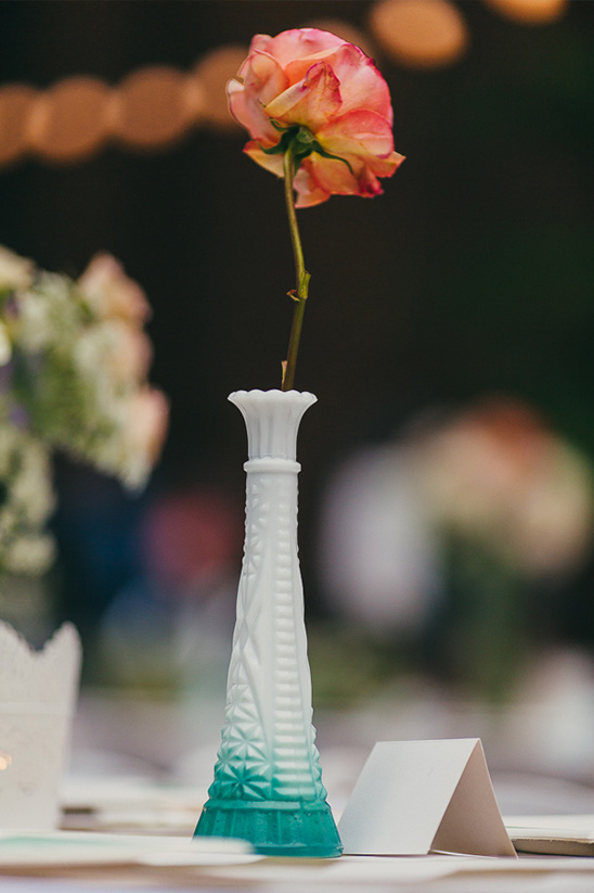 single stem painted vase