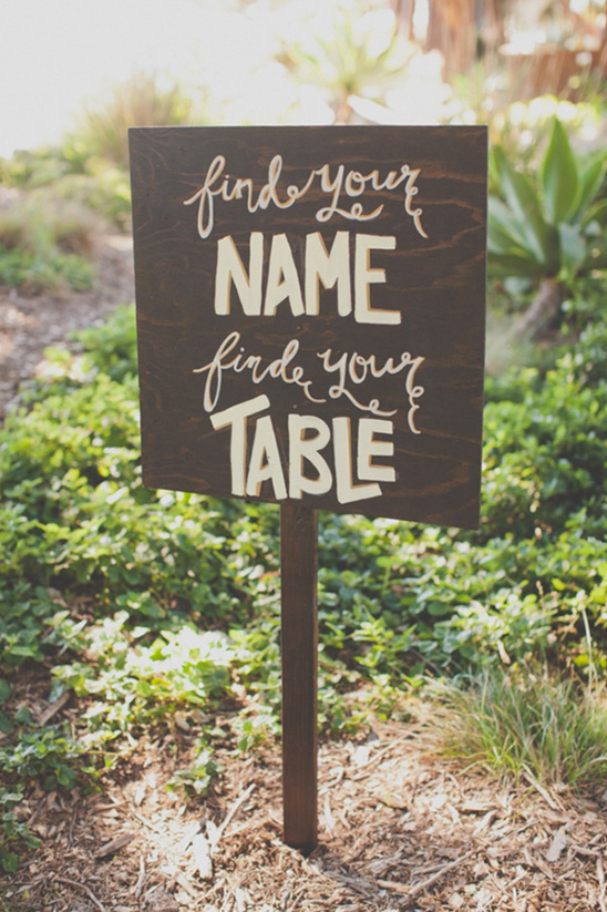 find your name find your table sign