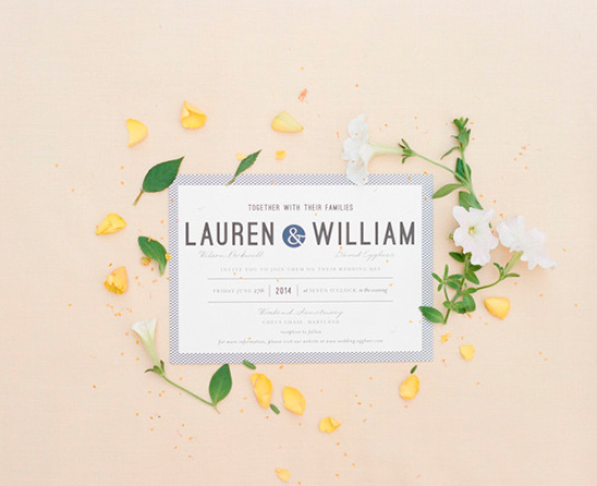 blue and white wedding invites