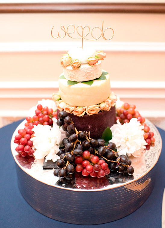 fruit and cheese wedding cake
