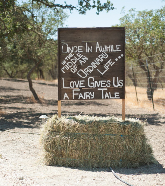rustic fairytale sign
