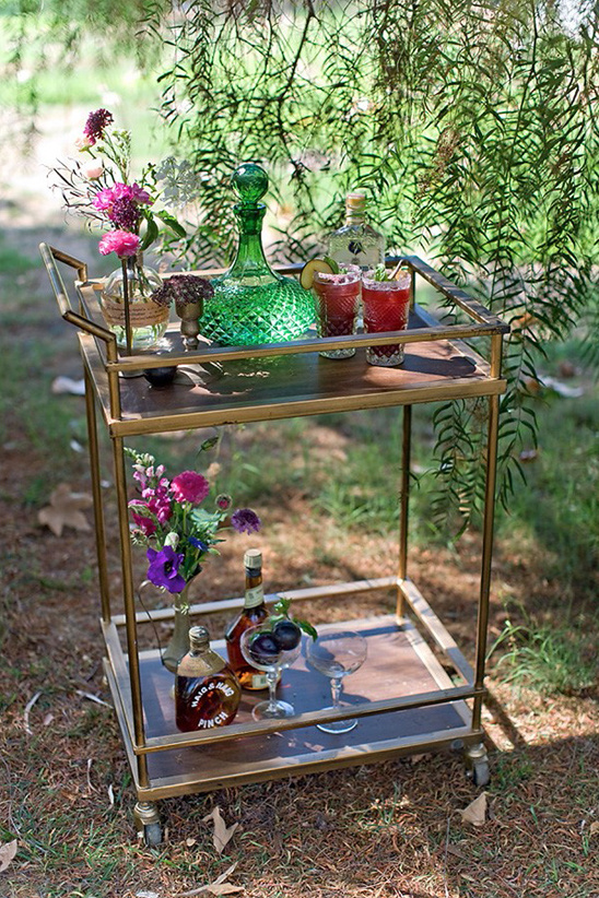 signature cocktail drink carts