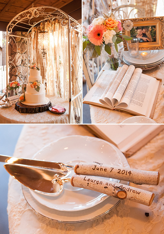 shabby chic cake table details and chandelier