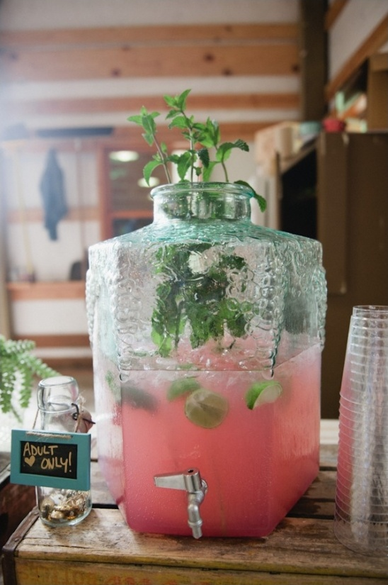 adult only punch with mint and lime