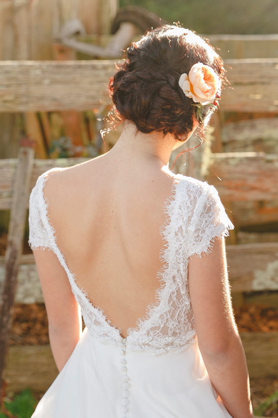 deep v back and wedding updo
