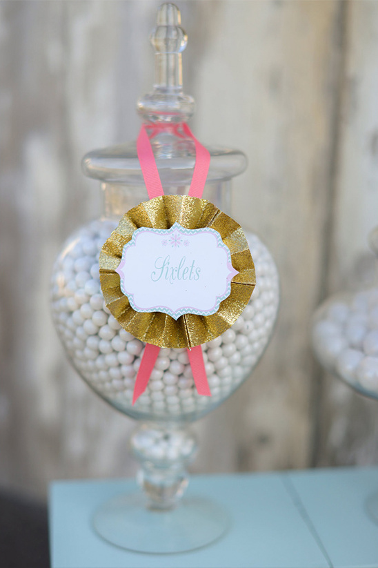 ribbon sign for candy