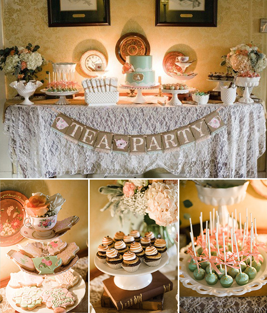 tea party treats table