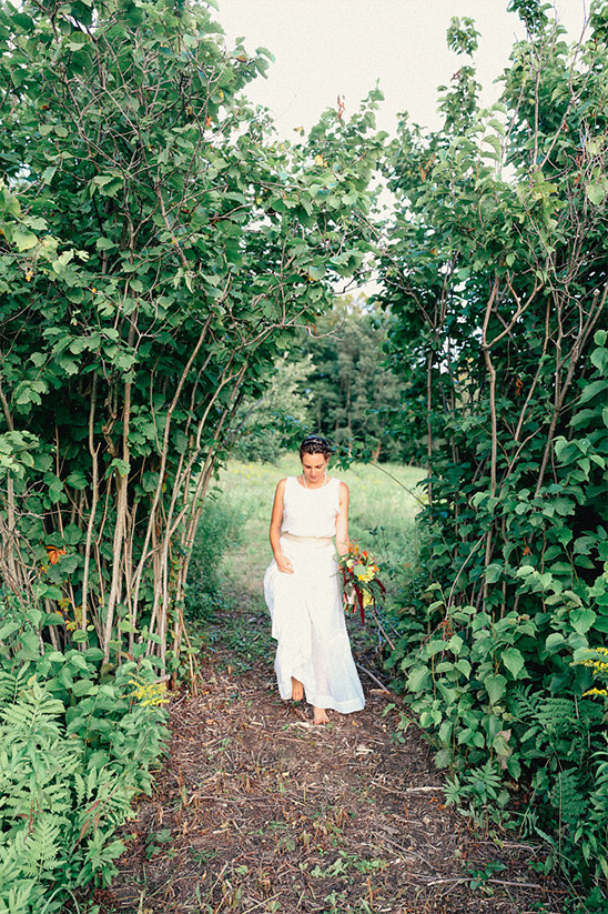 greenery bridal portraits
