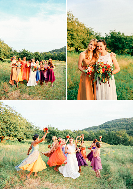 handmade colorful bridesmaid dresses