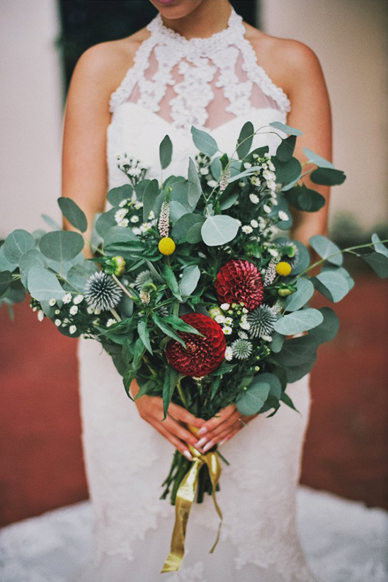 bursting with greenery bouquet