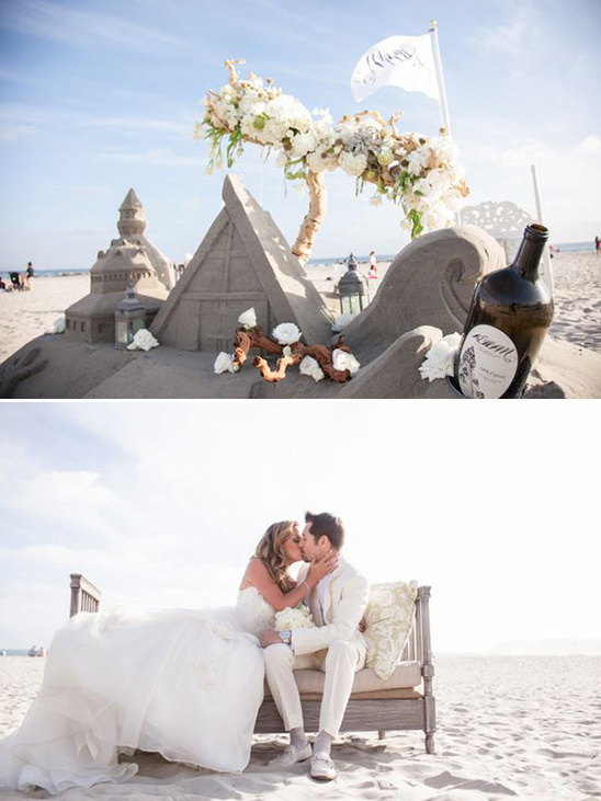 wedding sand castle