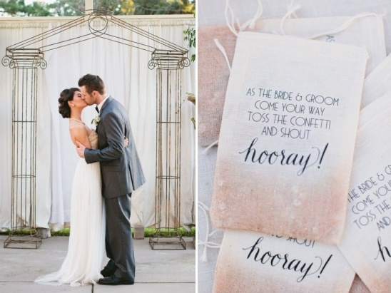 wedding kiss and confetti bag