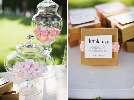 sweets and chocolate favors
