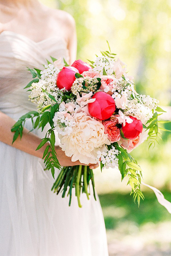 hot pink and white bouquet