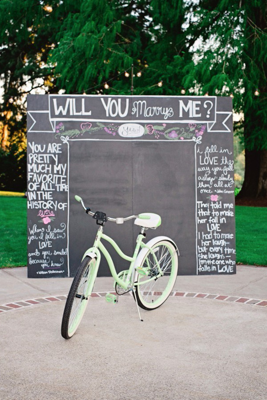 will you marry me chalkboard sign