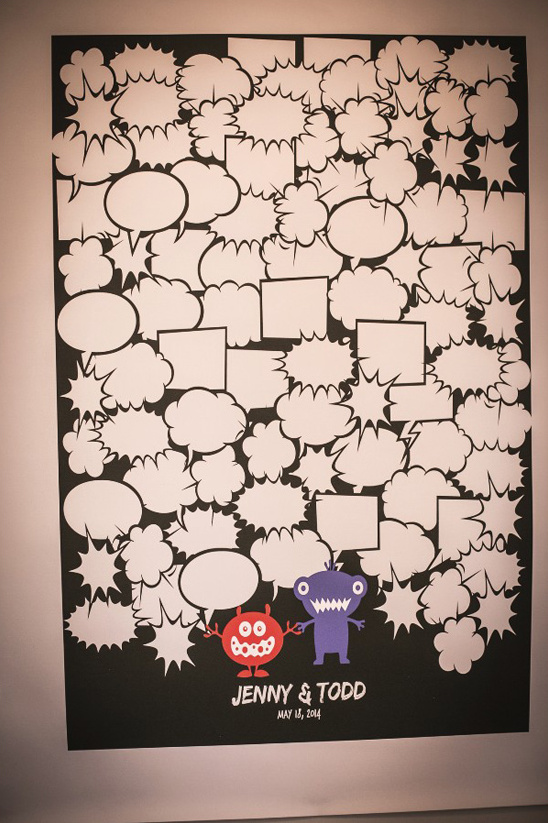 monster thought bubble guestbook poster