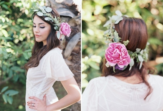 floral and greenery wedding halo
