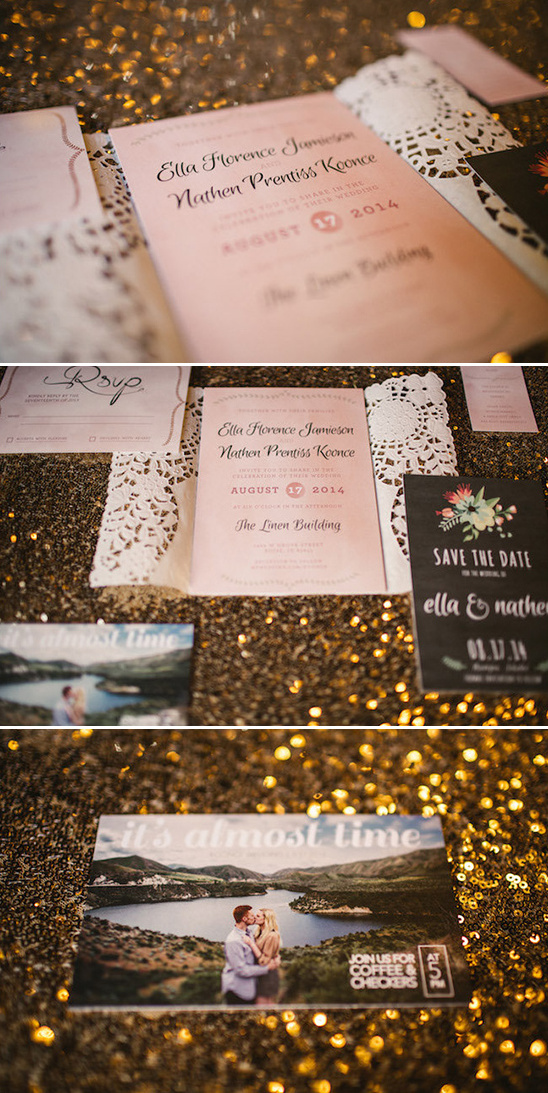 stationery by the bride
