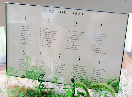 seating assignment sign