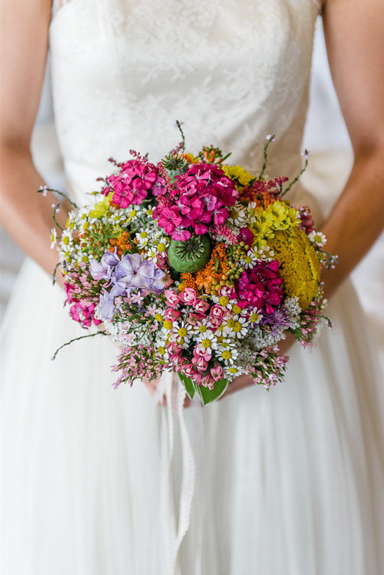 vibrant wild flower bouquet