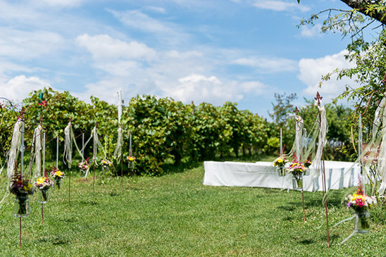 simple outdoor wedding ceremony
