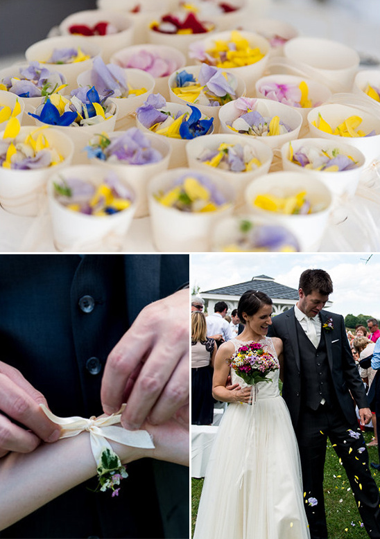 toss flowers after getting married