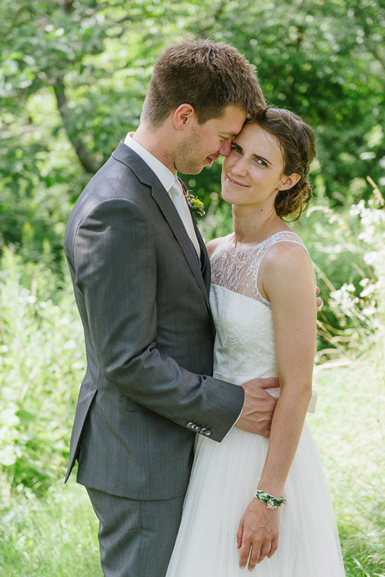 natural garden wedding