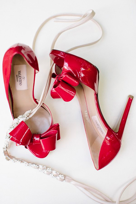 red Valentino wedding shoes