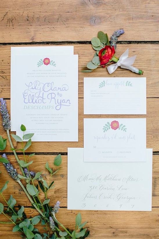 French wedding invite