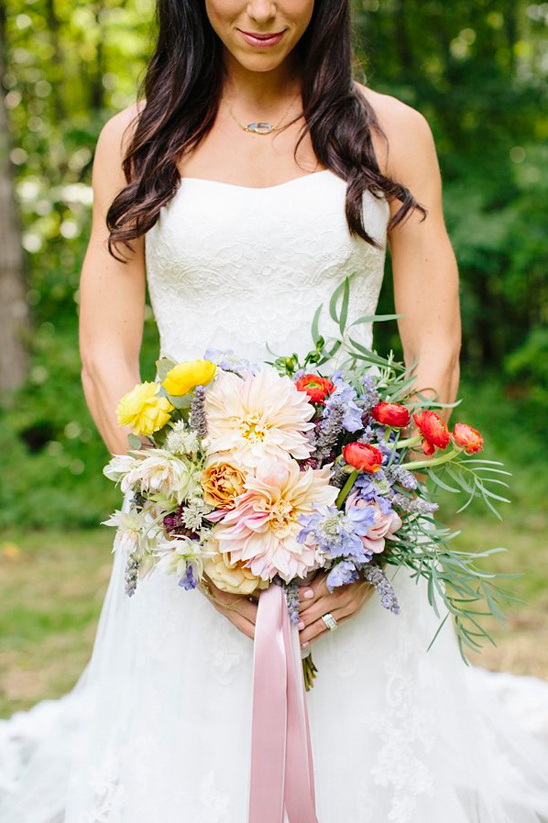 lush ribbon tied bouquet